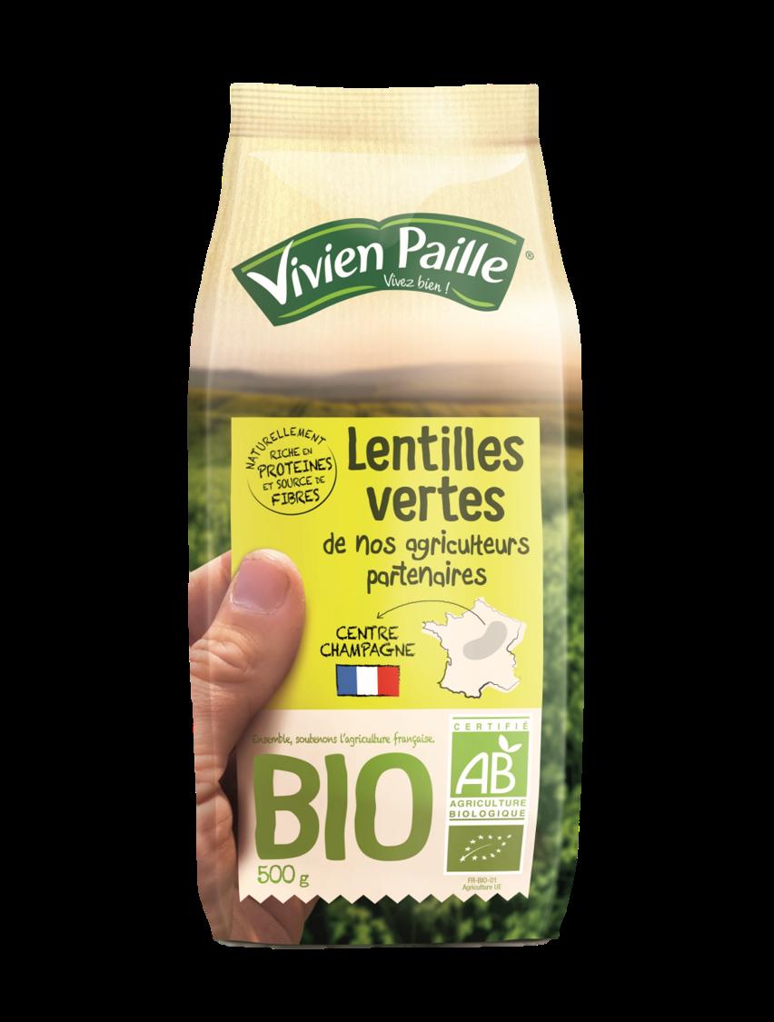 Lentilles vertes BIO de nos Agriculteurs